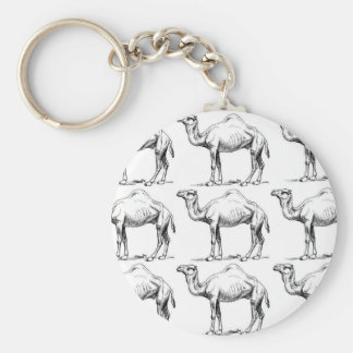 Camel herd art key ring