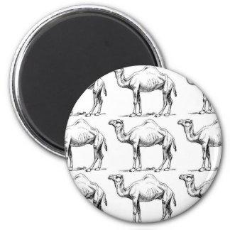 Camel herd art magnet