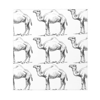 Camel herd art notepad