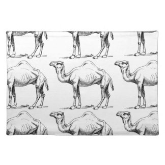 Camel herd art placemat
