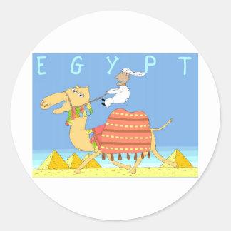 Camel in the Desert Egypt Classic Round Sticker