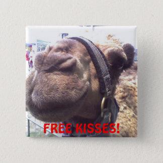 Camel Kisses 15 Cm Square Badge