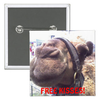Camel Kisses 15 Cm Square Badge