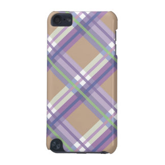 Camel Lavander  Plaids, Checks, Tartans iPod Touch (5th Generation) Covers
