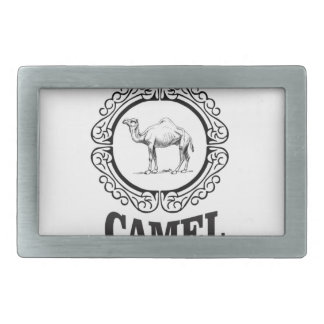 camel logo art belt buckle