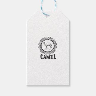 camel logo art gift tags