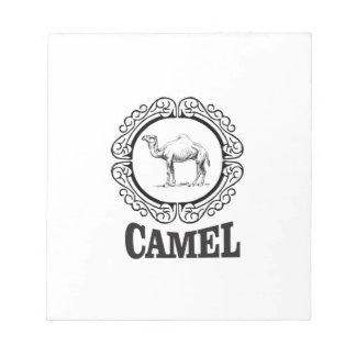 camel logo art notepad