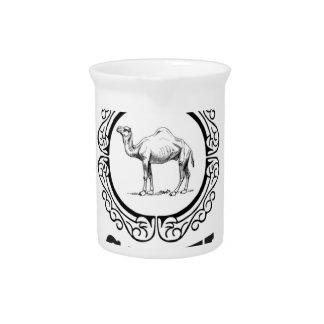 camel logo art pitcher