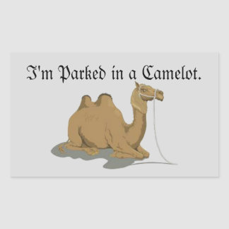 Camel Lot Humour Rectangular Sticker
