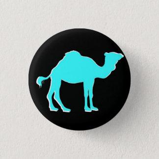Camel Love: Hump Day Celebration Black & Teal 3 Cm Round Badge
