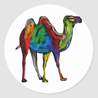 CAMEL OF COLORS CLASSIC ROUND STICKER