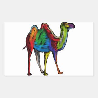 CAMEL OF COLORS RECTANGULAR STICKER