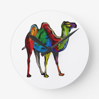 CAMEL OF COLORS ROUND CLOCK