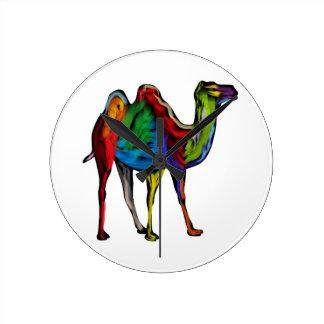 CAMEL OF COLORS WALL CLOCK