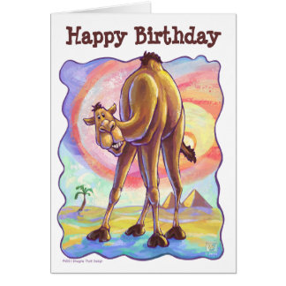Camel Party Centre Card