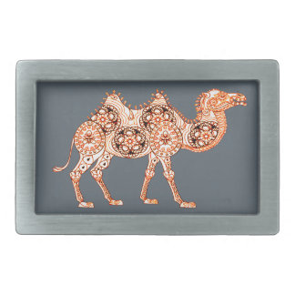 Camel Rectangular Belt Buckle