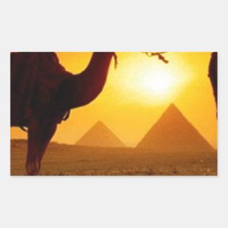camel rectangular sticker