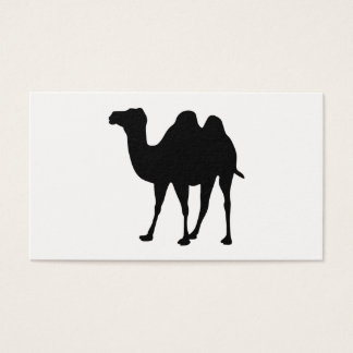 Camel Silhouette Business Card