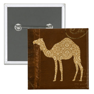 Camel Silhouette Button