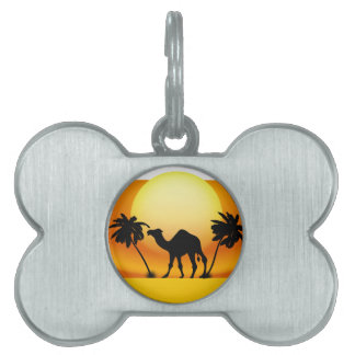 Camel silhouette pet tag