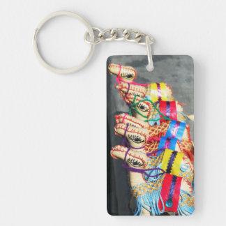 Camel toys Single-Sided rectangular acrylic key ring