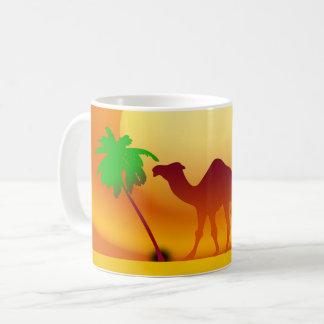Camel & Trees Sunset White Coffee Mug