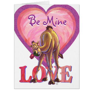 Camel Valentine's Day Card