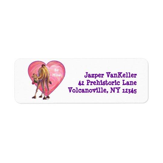 Camel Valentine's Day Return Address Label