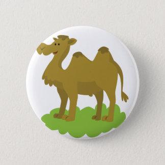 camel walking tall 6 cm round badge