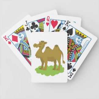 camel walking tall bicycle playing cards