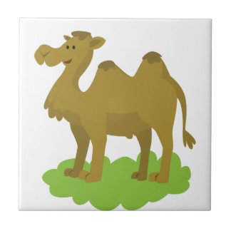 camel walking tall ceramic tile