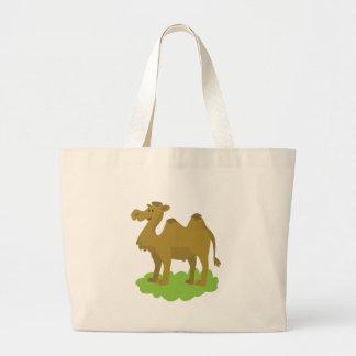 camel walking tall large tote bag