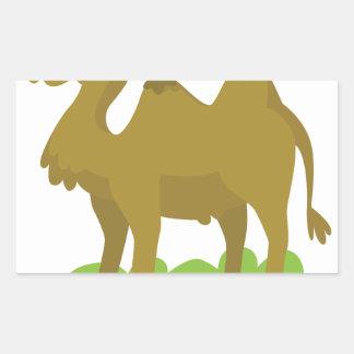 camel walking tall rectangular sticker