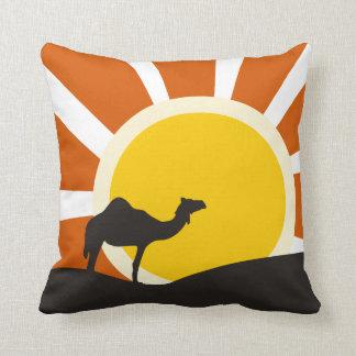 Camel With Sunset Cushion