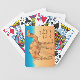 Camelflouge Bicycle Playing Cards