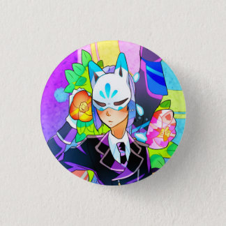 Camellia 篠 3 cm round badge
