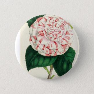 Camellia 6 Cm Round Badge