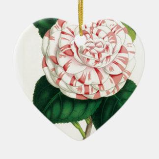 Camellia Ceramic Heart Decoration