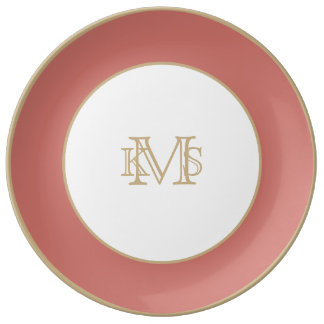 Camellia Pink in an English Country Garden Porcelain Plates