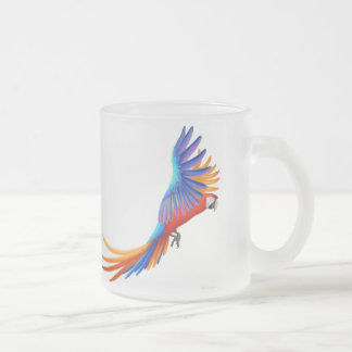 Camelot Hybrid Macaw Frosted Glass Mug