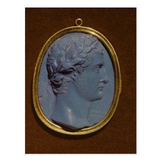 Cameo bearing the profile of Tiberius Postcard