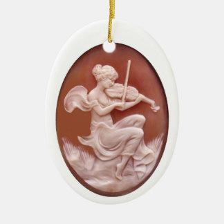 Cameo Ceramic Ornament