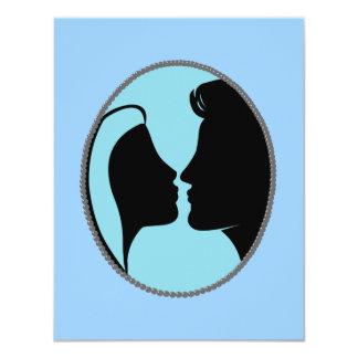 Cameo Kiss Silhouette 11 Cm X 14 Cm Invitation Card