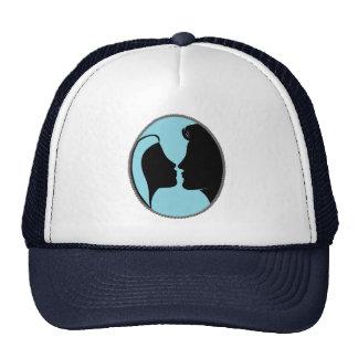Cameo Kiss Silhouette Mesh Hats