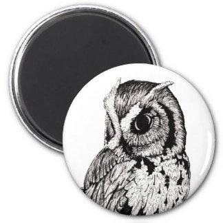 Cameo Screech Owl Magnet