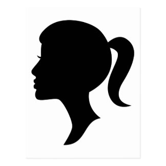Cameo Silhouette Girl Postcard