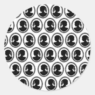 Cameos Classic Round Sticker
