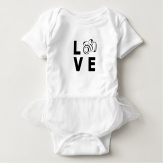 camera and love baby bodysuit