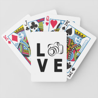 camera and love bicycle playing cards