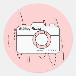 Camera + Business name Photographer Stickers